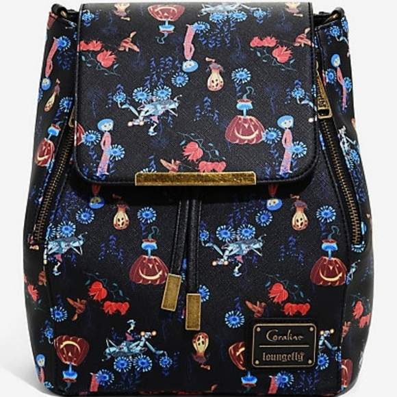 Loungefly Handbags - Loungefly Coraline convertible mini backpack
